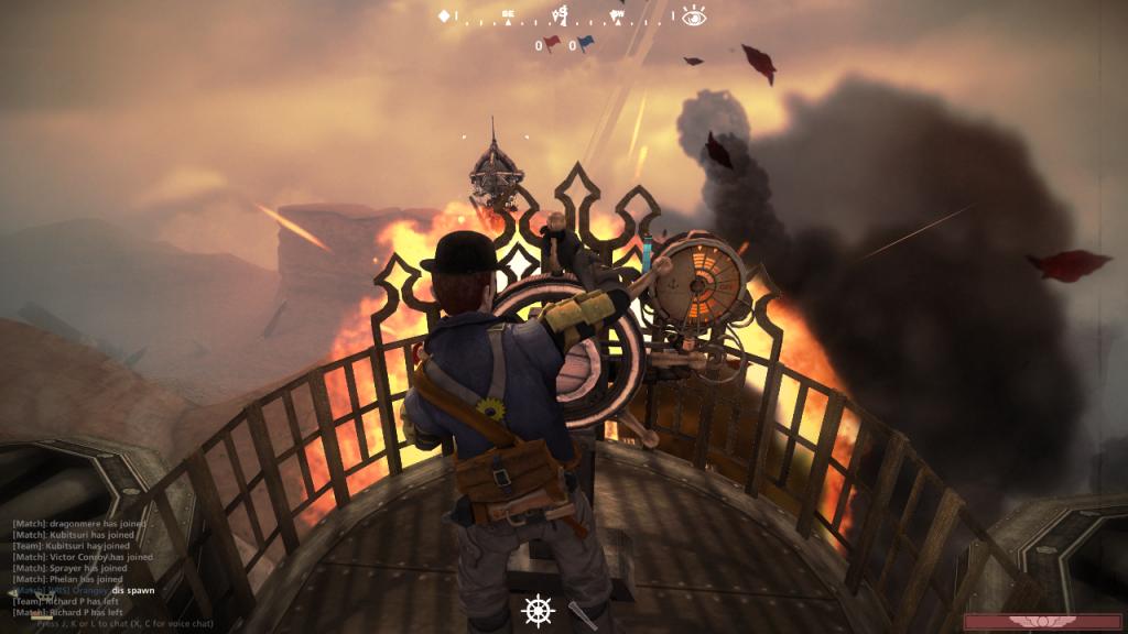 Piloting a blimp into battle